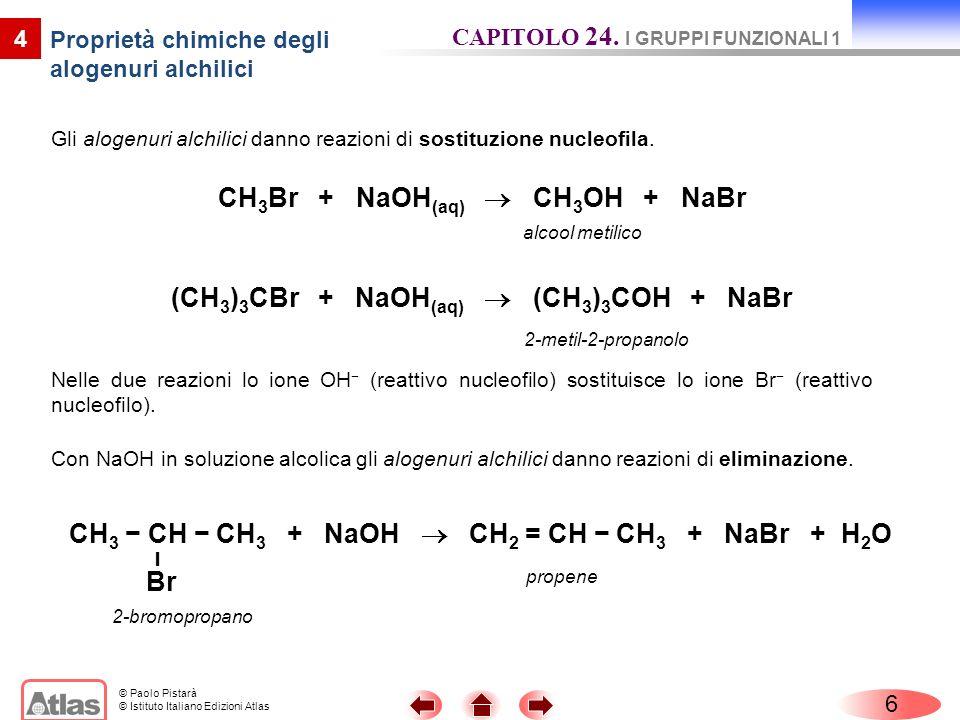 Proprietà chimiche degli alogenuri alchilici
