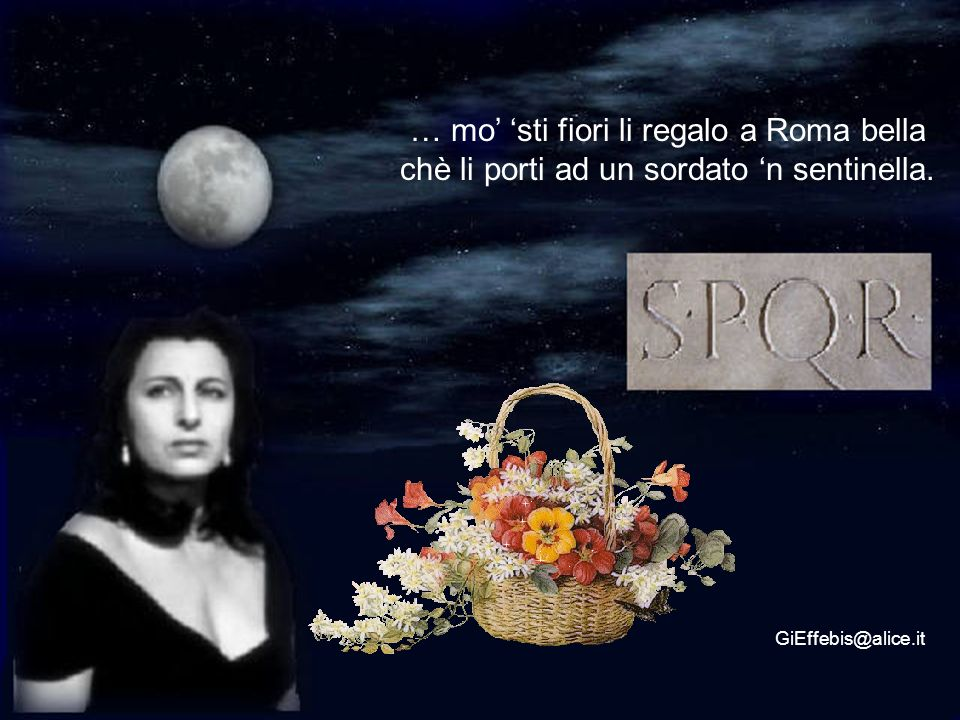 … mo' 'sti fiori li regalo a Roma bella