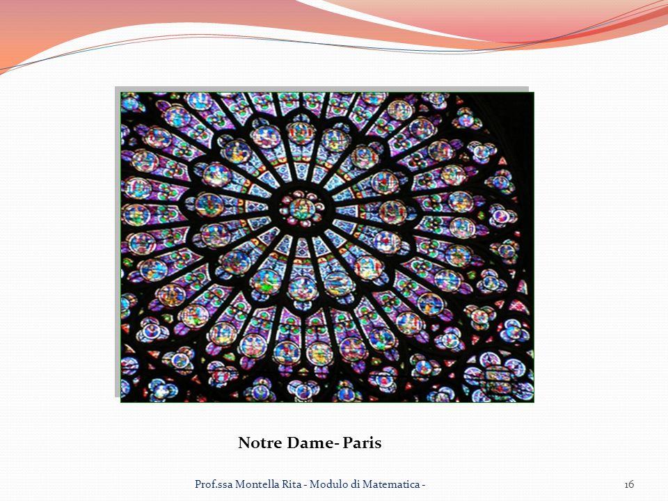 Notre Dame- Paris Prof.ssa Montella Rita - Modulo di Matematica -