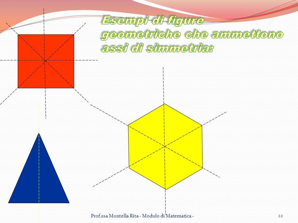 Esempi di figure geometriche che ammettono assi di simmetria:
