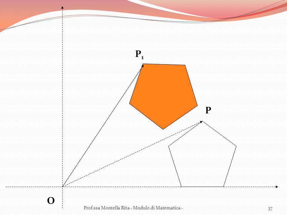 P1 P O Prof.ssa Montella Rita - Modulo di Matematica -