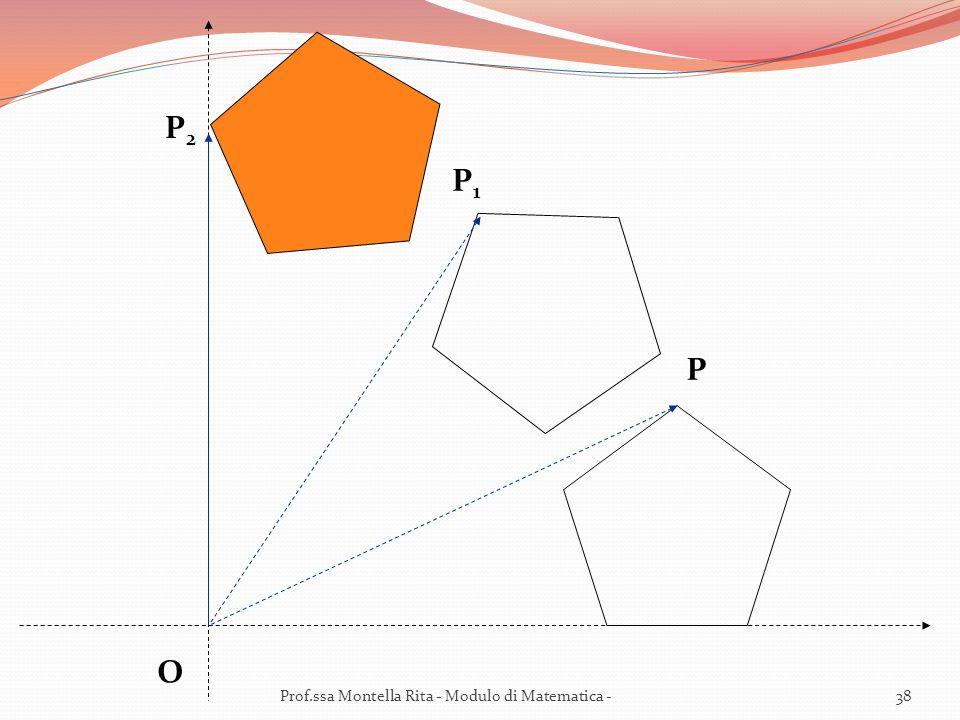 P2 P1 P O Prof.ssa Montella Rita - Modulo di Matematica -