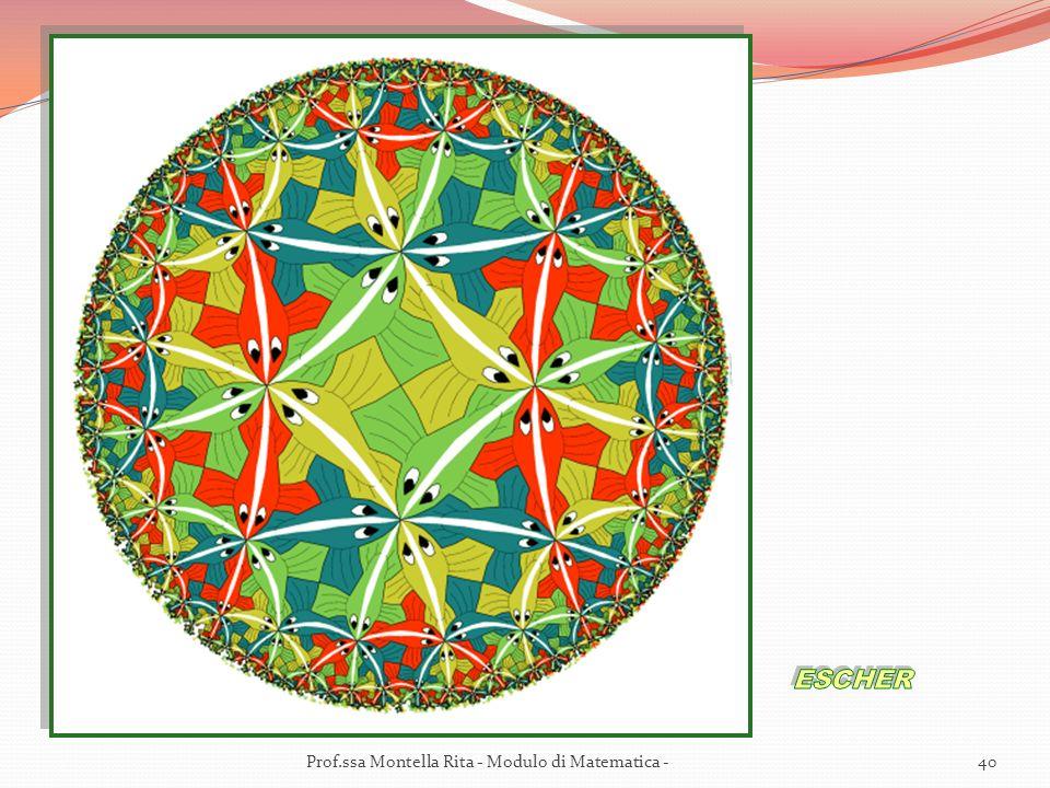 ESCHER Prof.ssa Montella Rita - Modulo di Matematica -