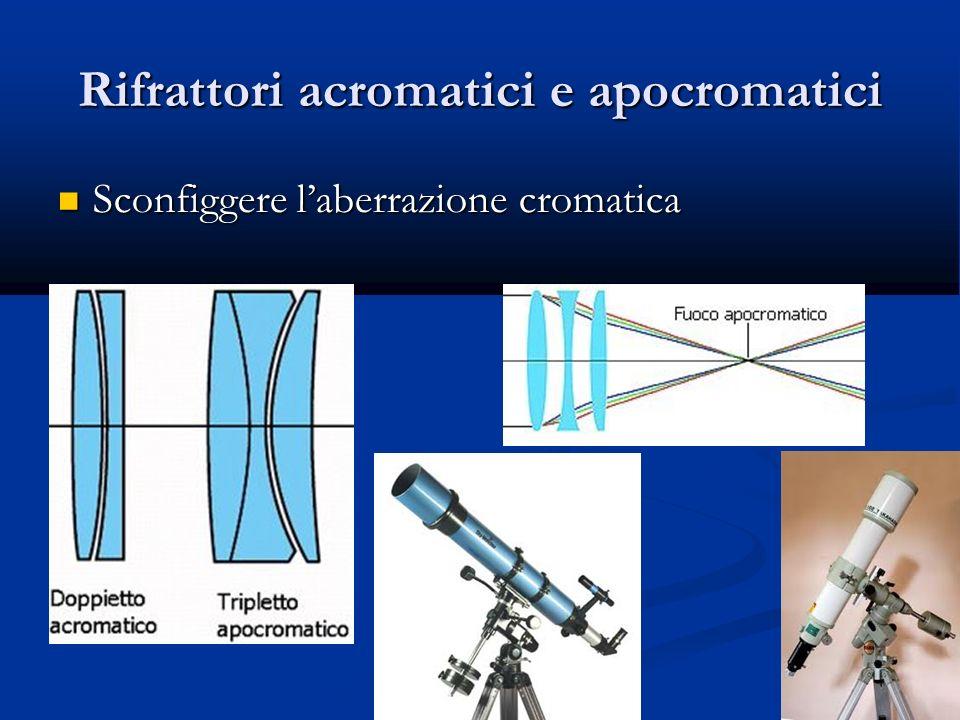 Rifrattori acromatici e apocromatici