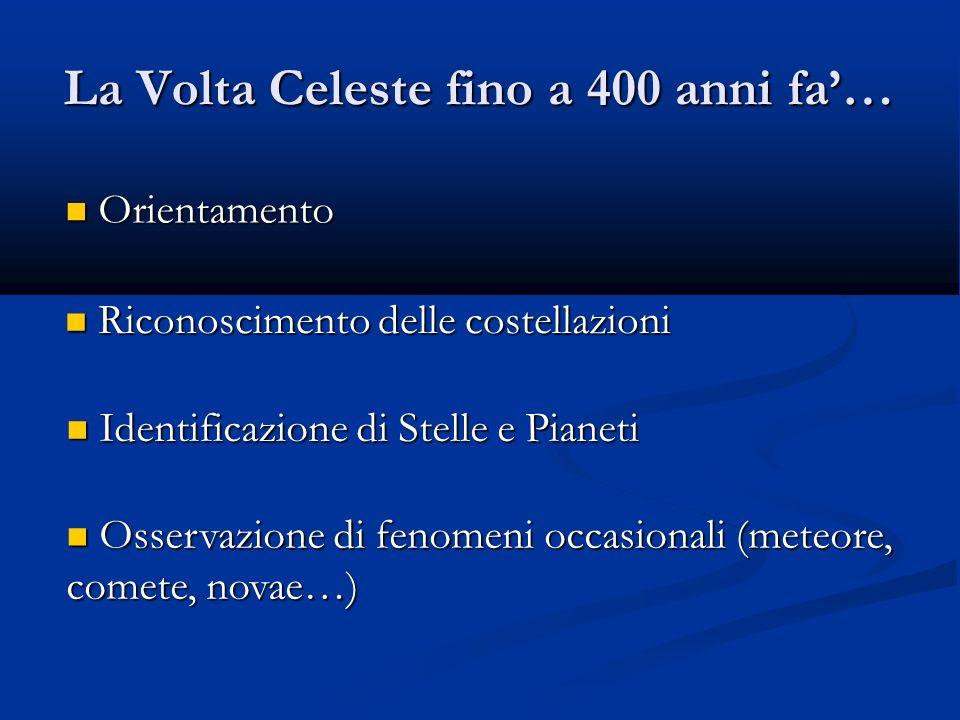 La Volta Celeste fino a 400 anni fa'…