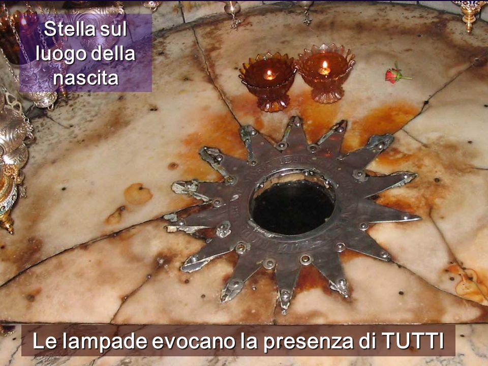 Stella sul luogo della nascita Le lampade evocano la presenza di TUTTI