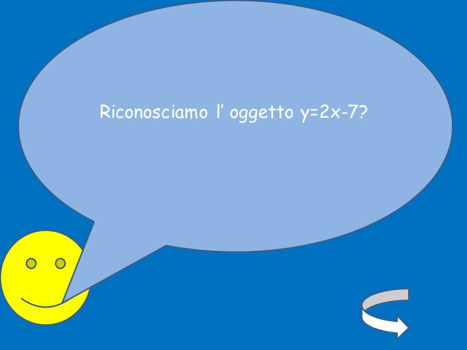 Riconosciamo l' oggetto y=2x-7