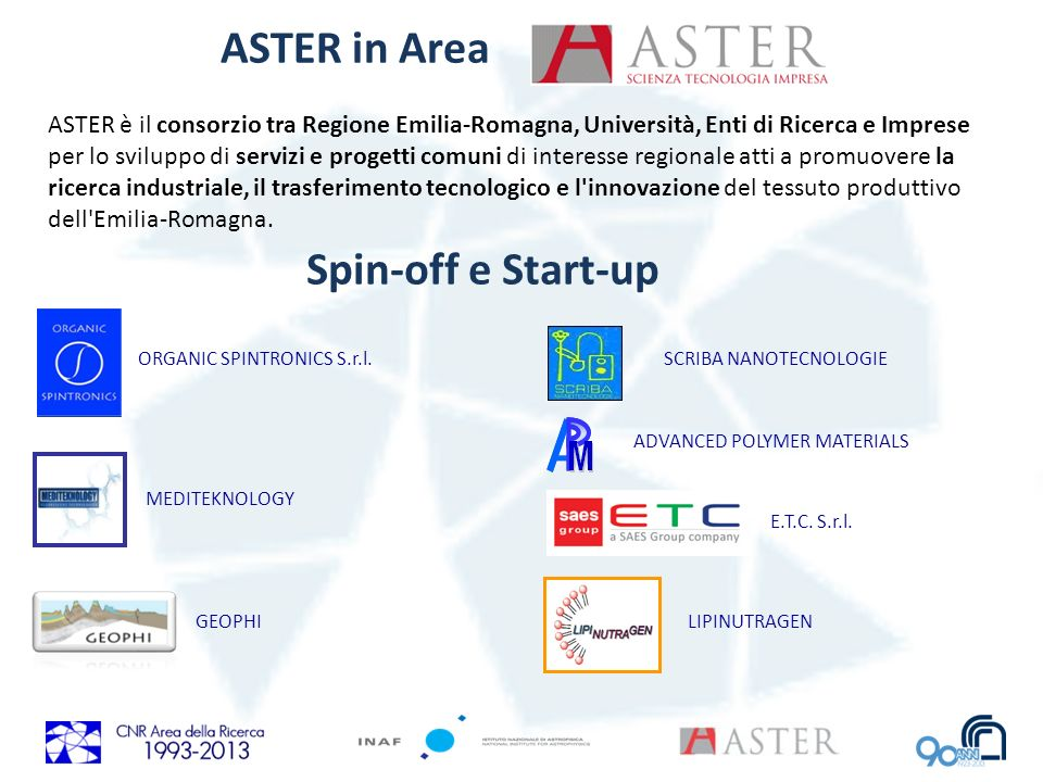 ASTER in Area Spin-off e Start-up