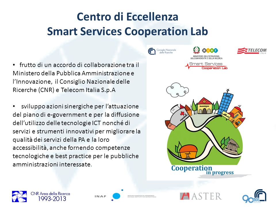 Centro di Eccellenza Smart Services Cooperation Lab