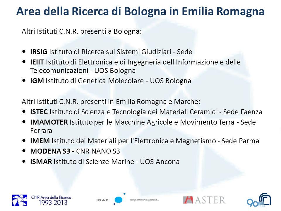 Area della Ricerca di Bologna in Emilia Romagna