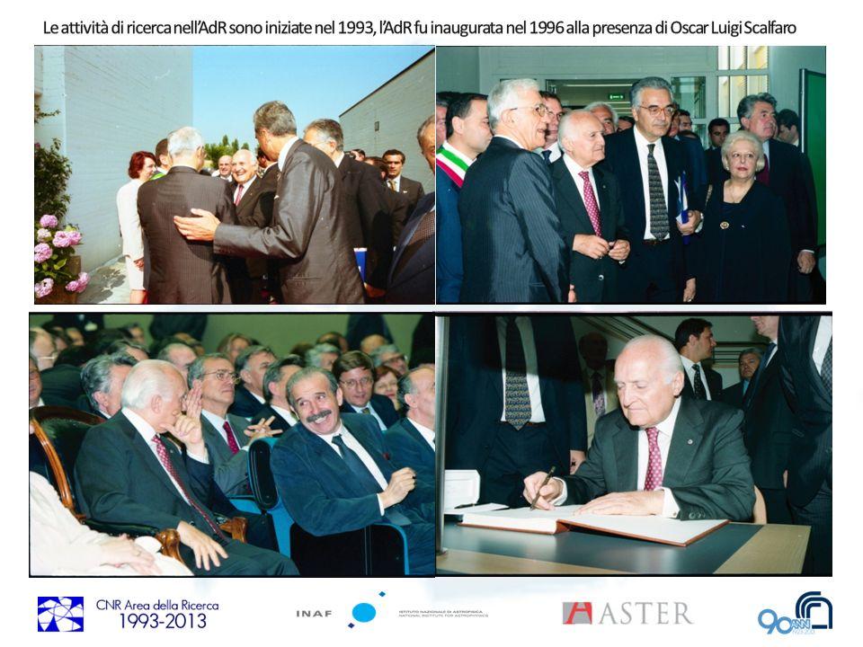 Le attività di ricerca nell'AdR sono iniziate nel 1993, l'AdR fu inaugurata nel 1996 alla presenza di Oscar Luigi Scalfaro