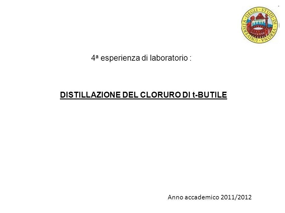 DISTILLAZIONE DEL CLORURO DI t-BUTILE