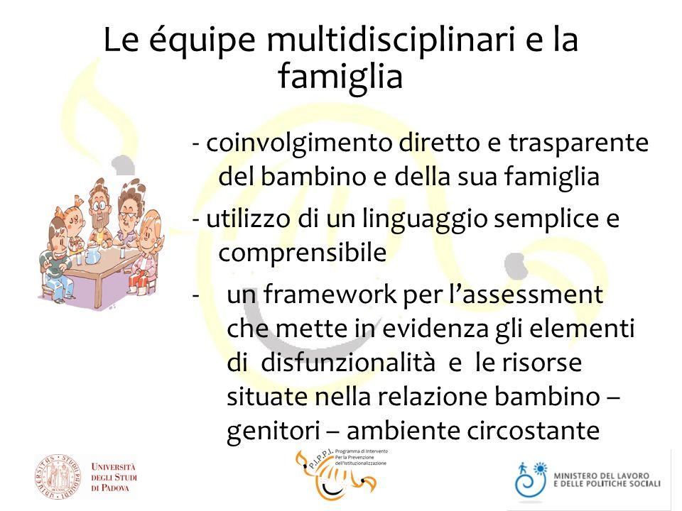 Le équipe multidisciplinari e la famiglia