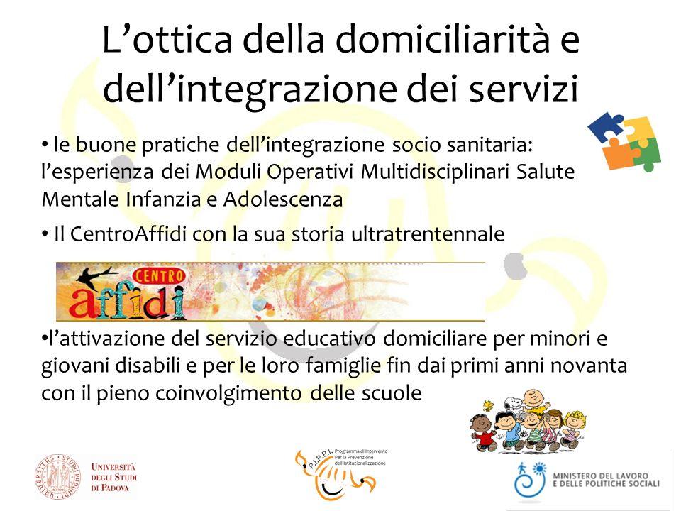 L'ottica della domiciliarità e dell'integrazione dei servizi