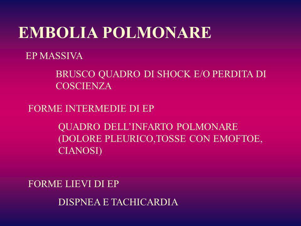 EMBOLIA POLMONARE EP MASSIVA