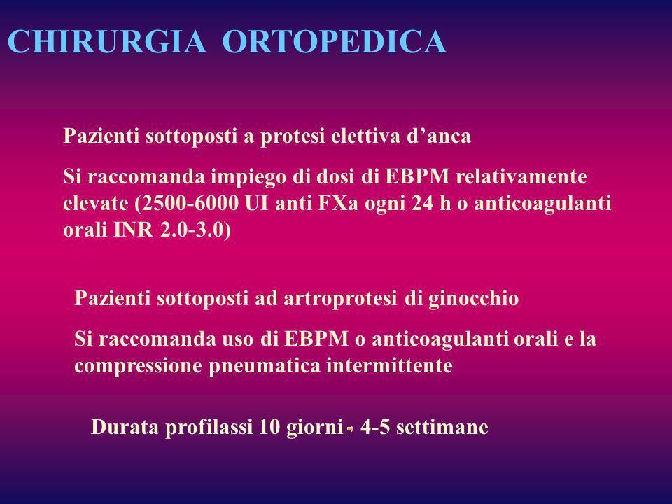 CHIRURGIA ORTOPEDICA Pazienti sottoposti a protesi elettiva d'anca