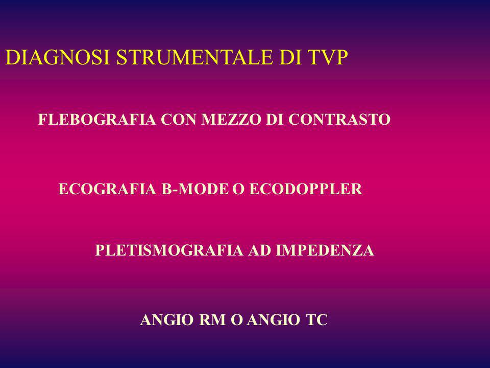DIAGNOSI STRUMENTALE DI TVP