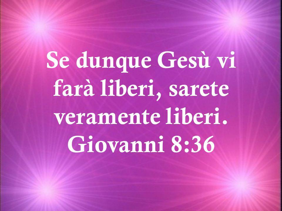 Se dunque Gesù vi farà liberi, sarete veramente liberi.