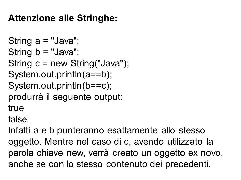 Attenzione alle Stringhe: