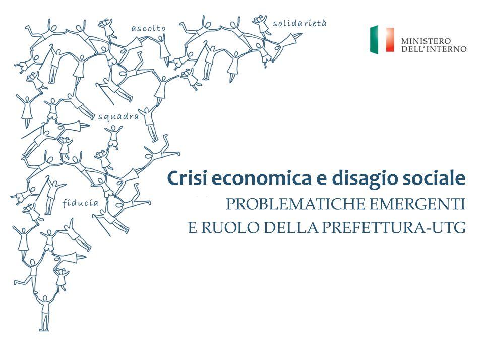 Crisi economica e disagio sociale