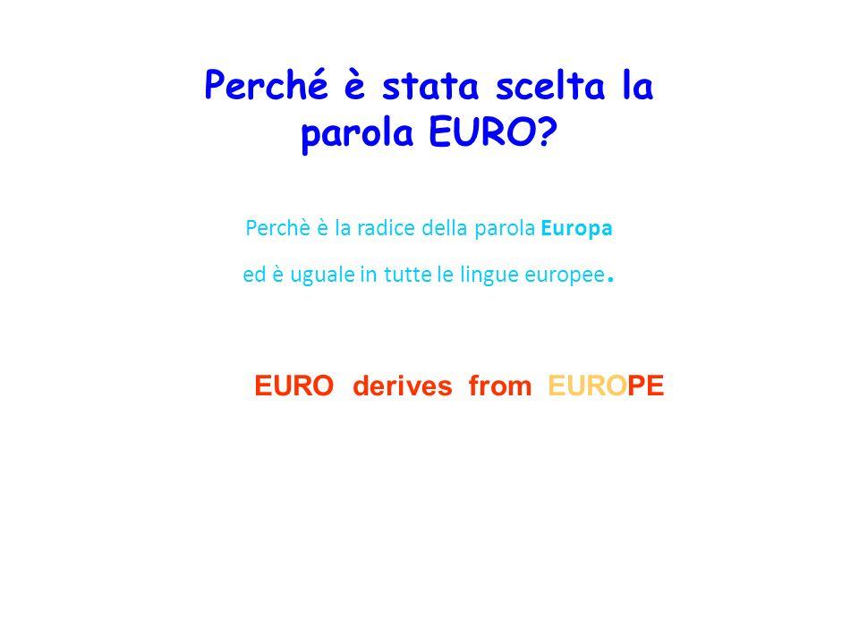 Perché è stata scelta la parola EURO