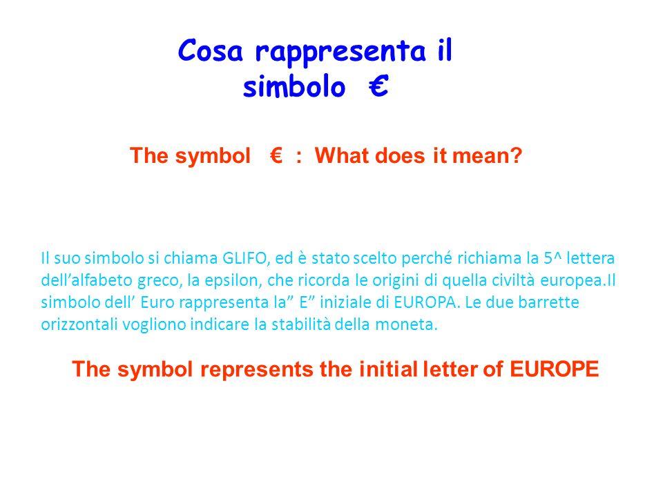 Cosa rappresenta il simbolo €