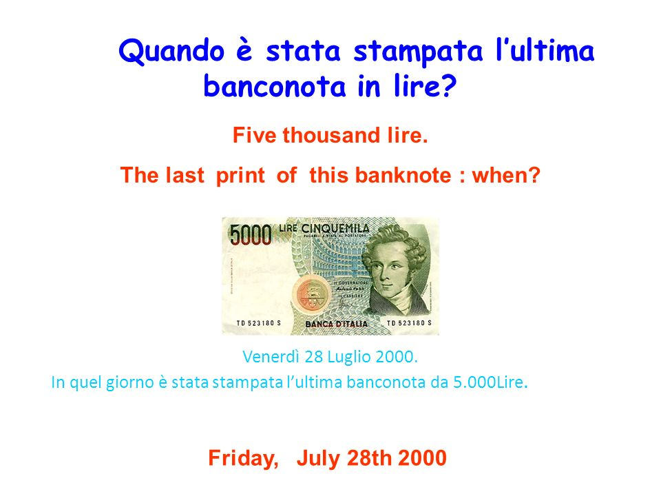 The last print of this banknote : when