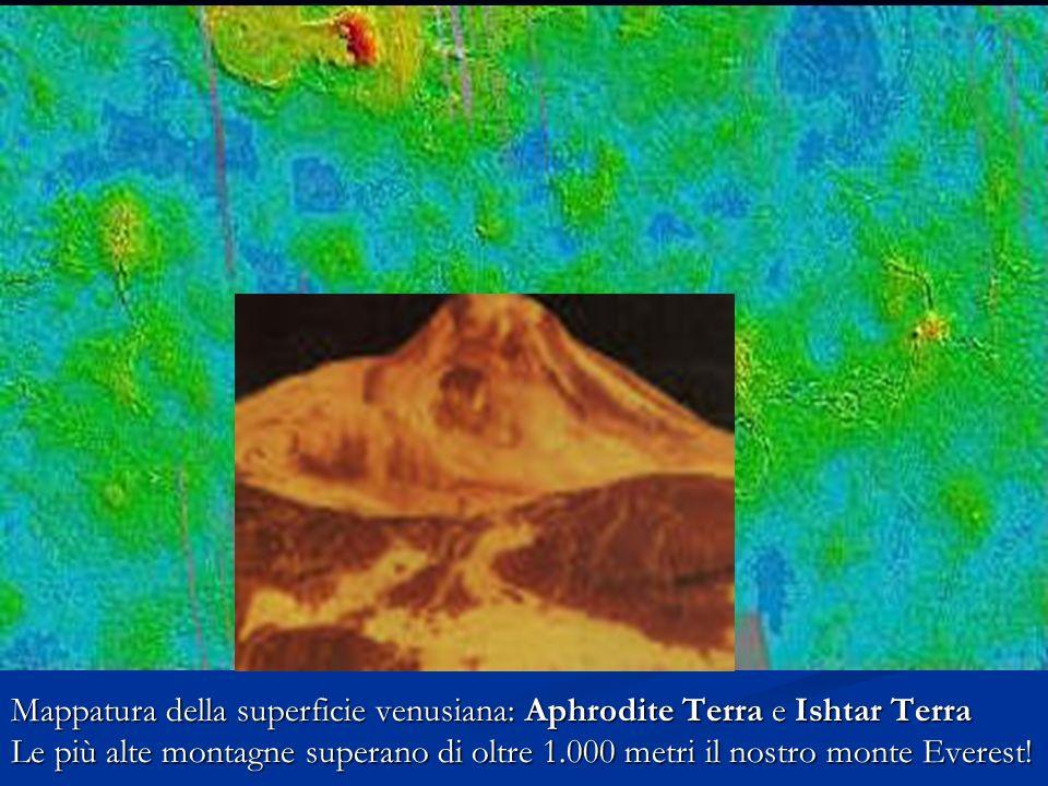 Su Venere è presente un fortissimo effetto serra :