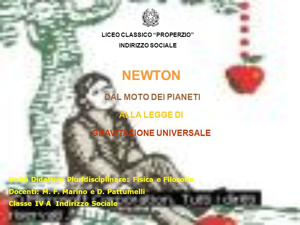LICEO CLASSICO PROPERZIO GRAVITAZIONE UNIVERSALE