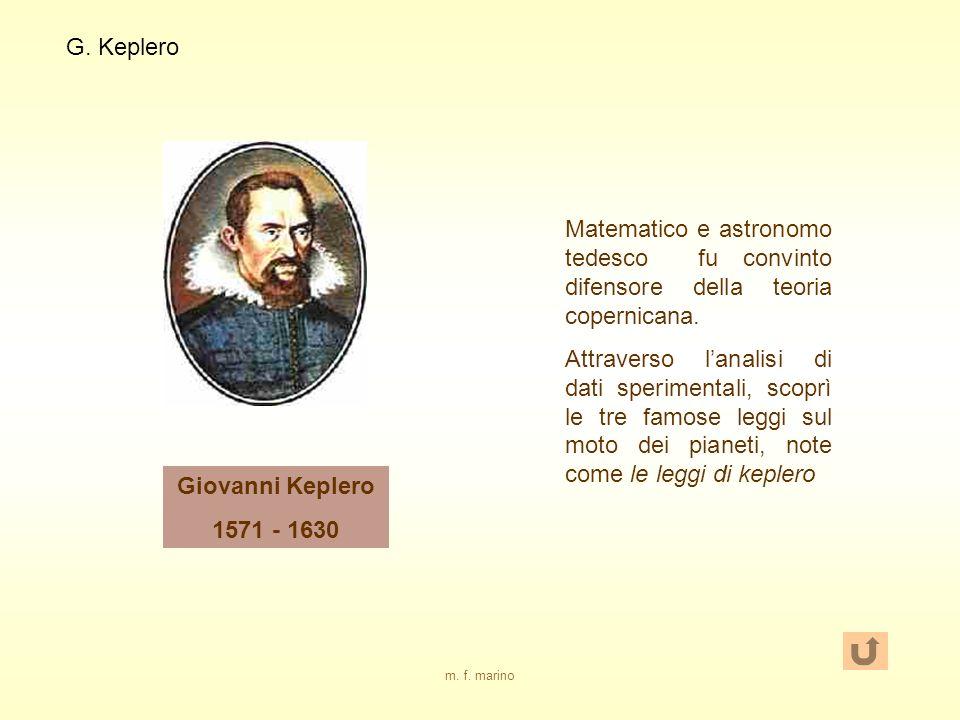 G. Keplero Matematico e astronomo tedesco fu convinto difensore della teoria copernicana.