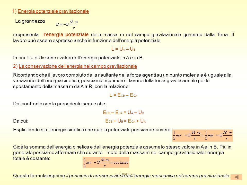 1) Energia potenziale gravitazionale