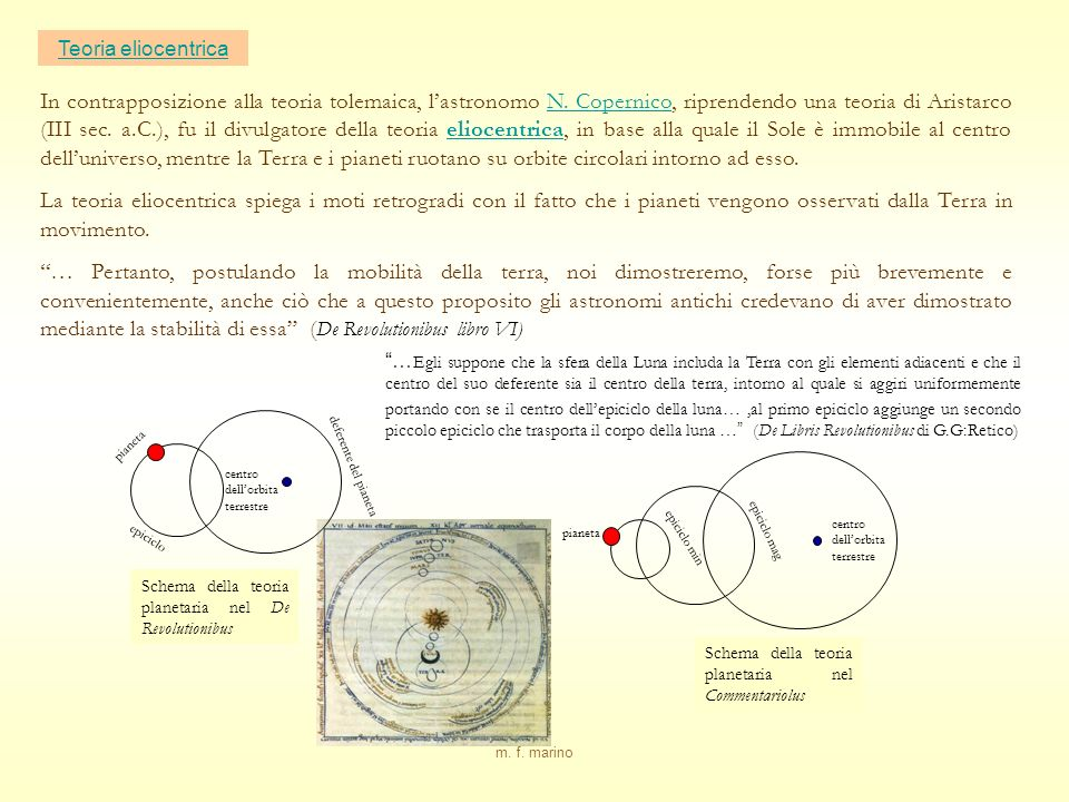 Teoria eliocentrica