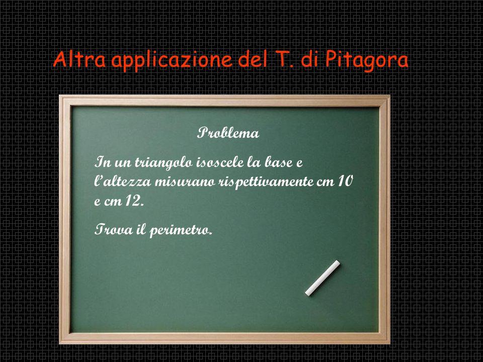 Altra applicazione del T. di Pitagora