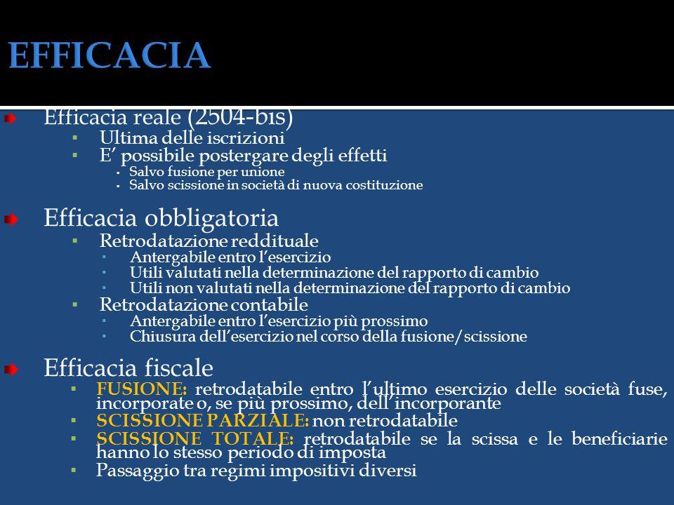 EFFICACIA Efficacia obbligatoria Efficacia fiscale