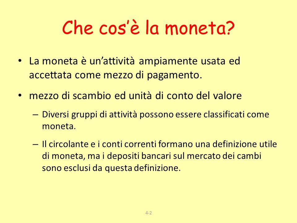 Che cos'è la moneta La moneta è un'attività ampiamente usata ed accettata come mezzo di pagamento.