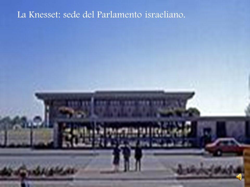 La Knesset: sede del Parlamento israeliano.