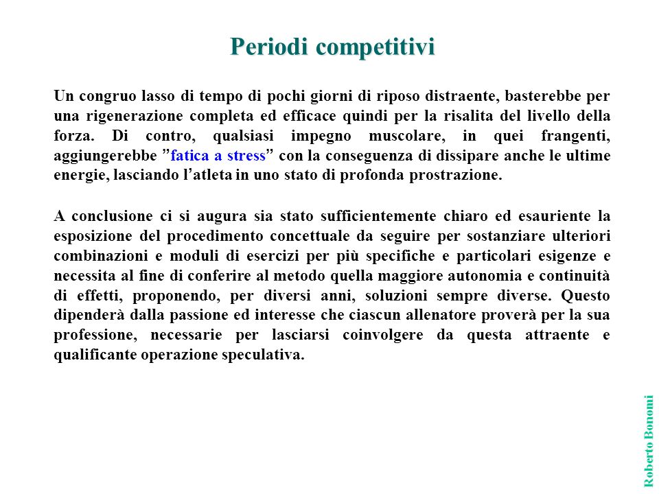Periodi competitivi