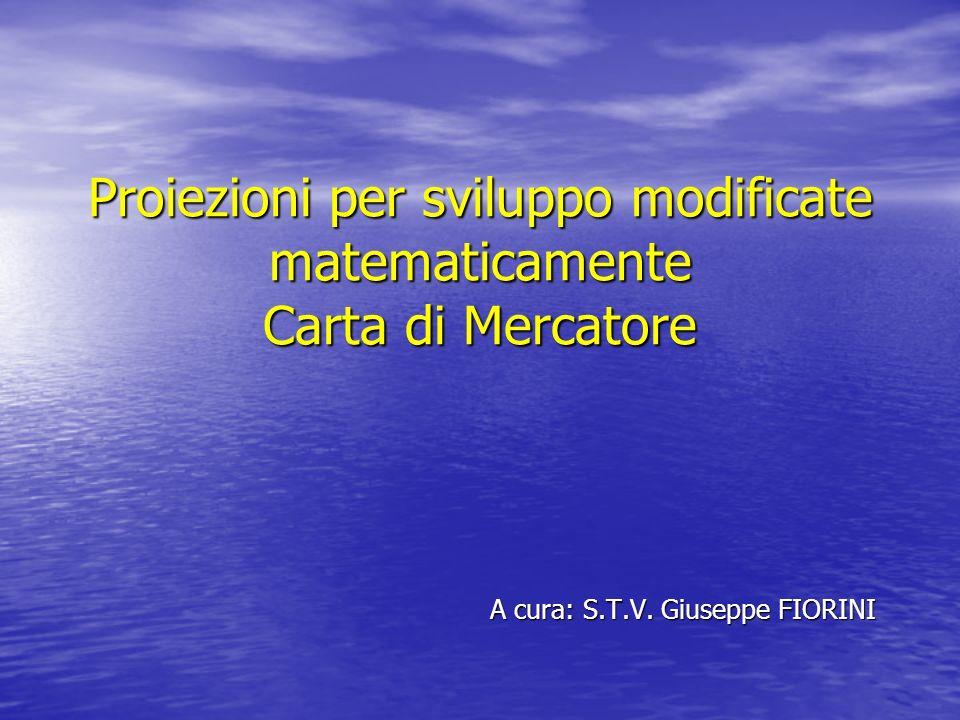 Proiezioni per sviluppo modificate matematicamente Carta di Mercatore