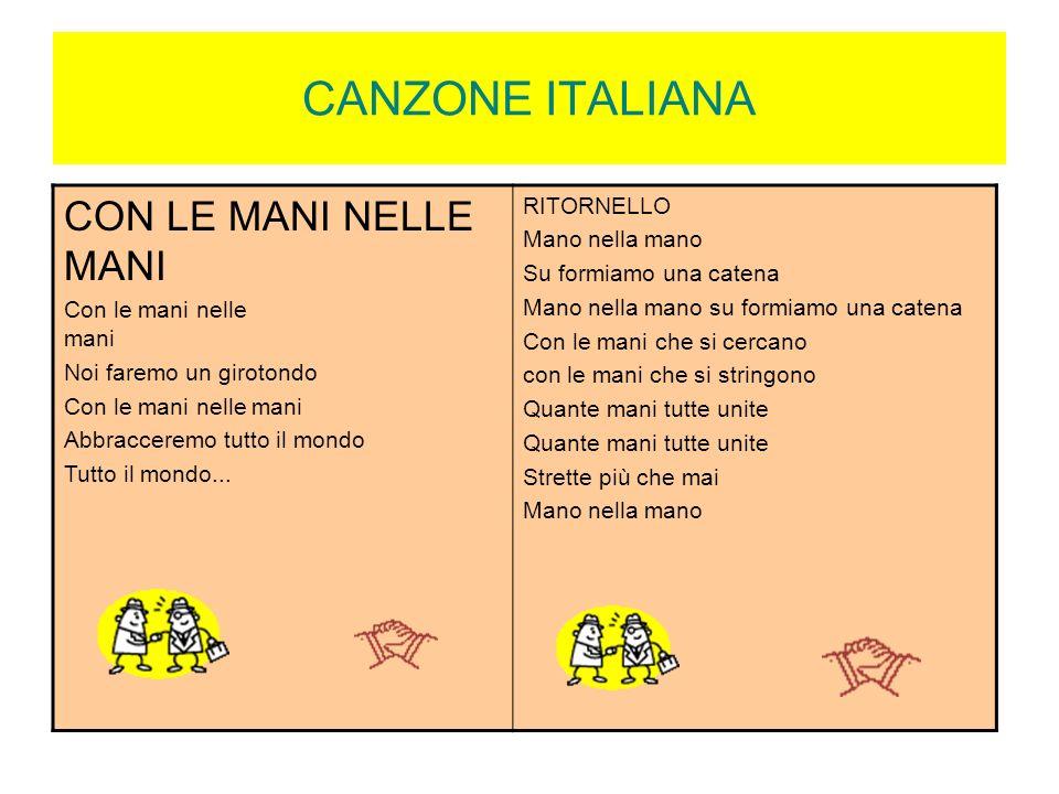 CANZONE ITALIANA CON LE MANI NELLE MANI RITORNELLO Mano nella mano