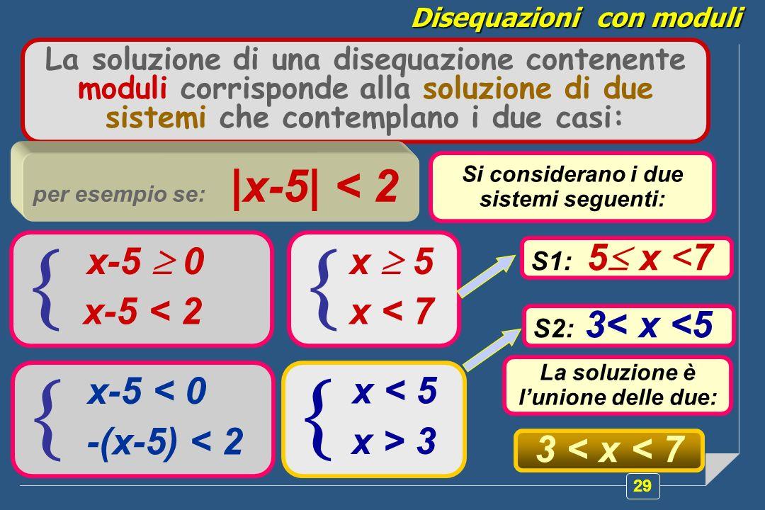     x-5  0 x-5 < 2 x  5 x < 7 x-5 < 0 -(x-5) < 2