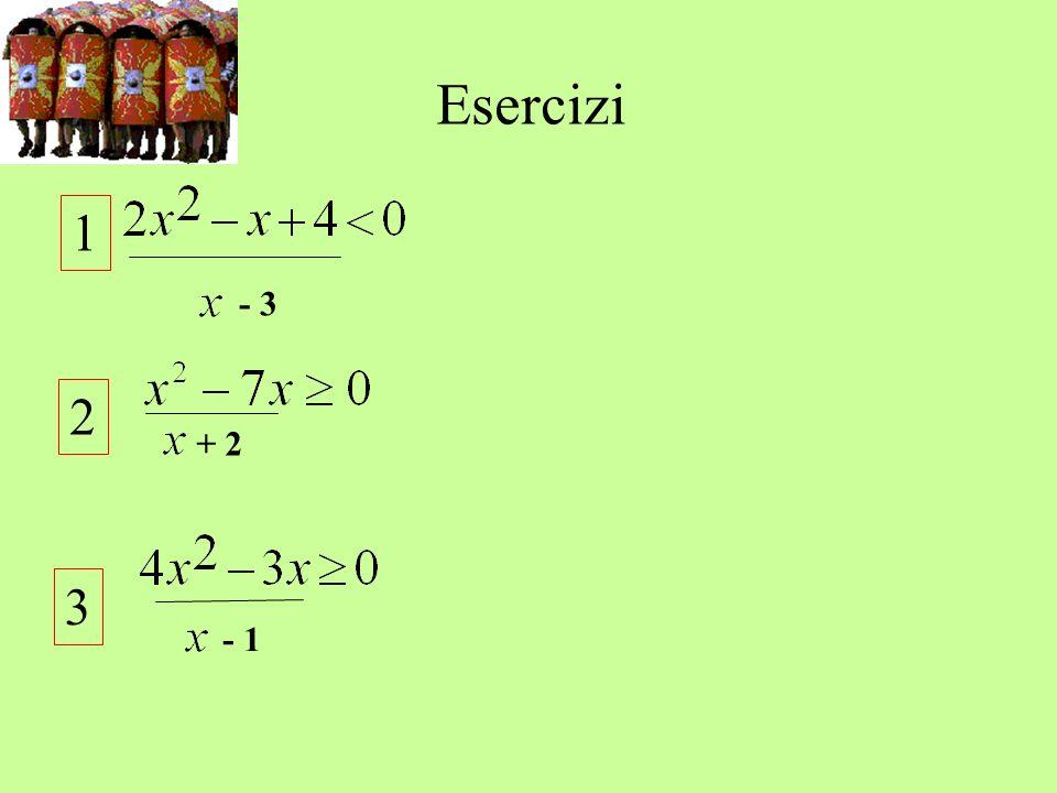 Esercizi 1 - 3 2 + 2 3 - 1