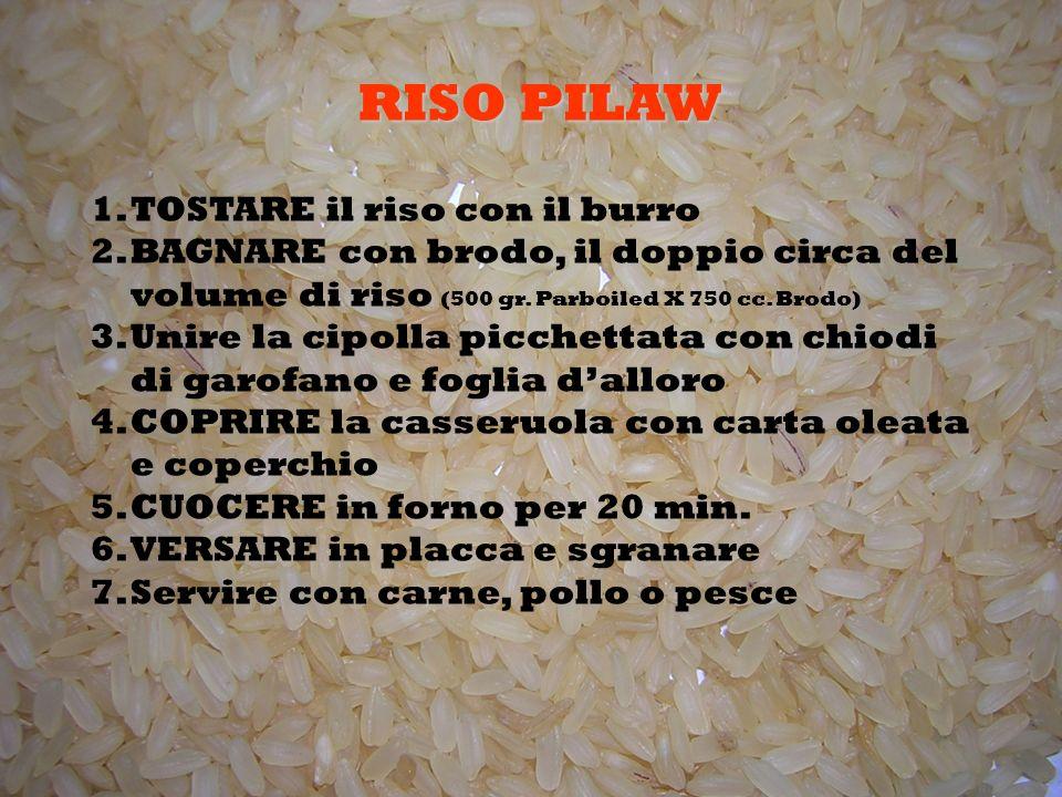 RISO PILAW TOSTARE il riso con il burro