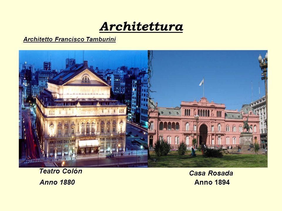 Architettura Teatro Colón Casa Rosada Anno 1880 Anno 1894