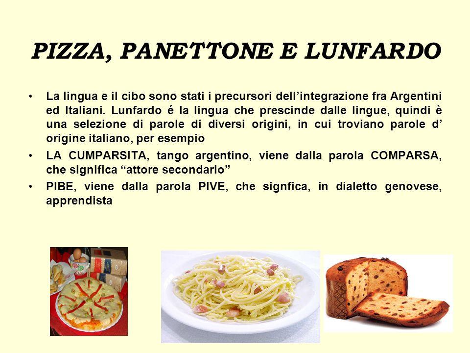 PIZZA, PANETTONE E LUNFARDO