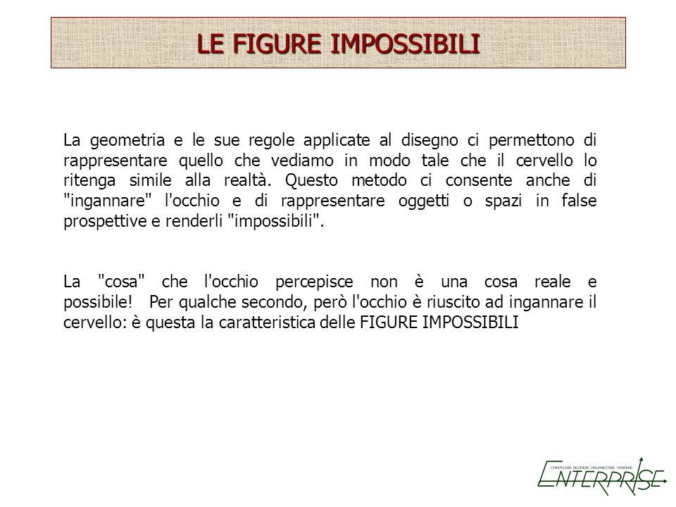 LE FIGURE IMPOSSIBILI
