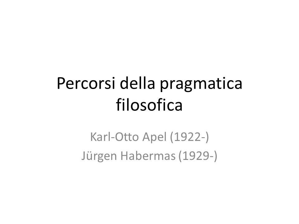 Percorsi della pragmatica filosofica