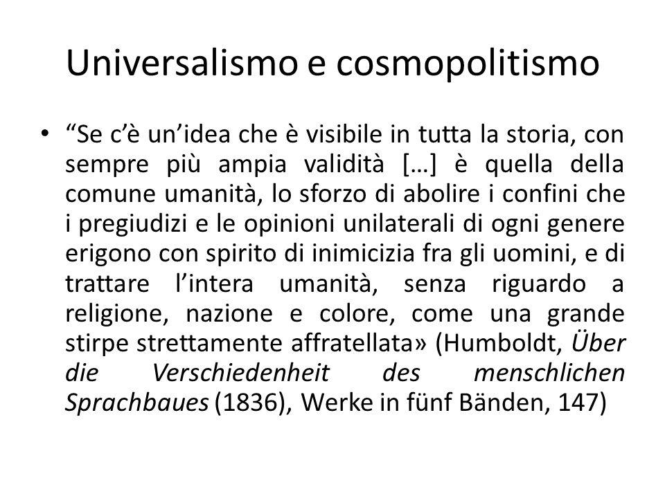 Universalismo e cosmopolitismo