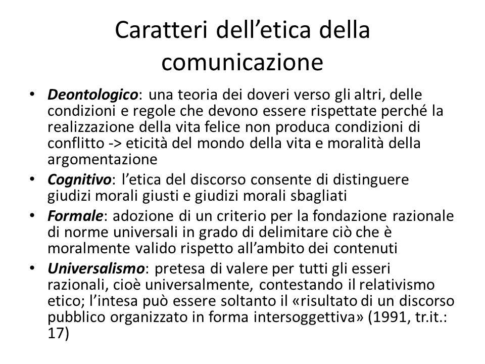 Caratteri dell'etica della comunicazione
