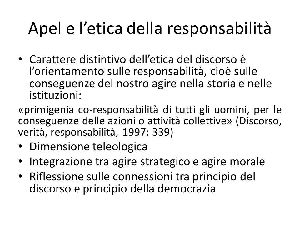 Apel e l'etica della responsabilità