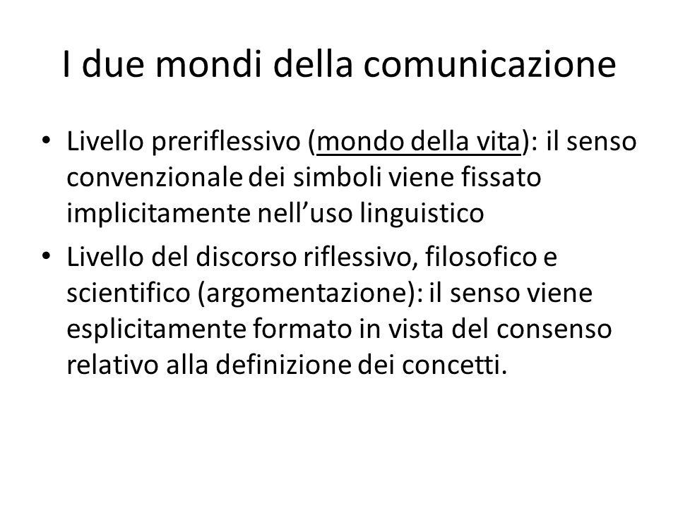 I due mondi della comunicazione